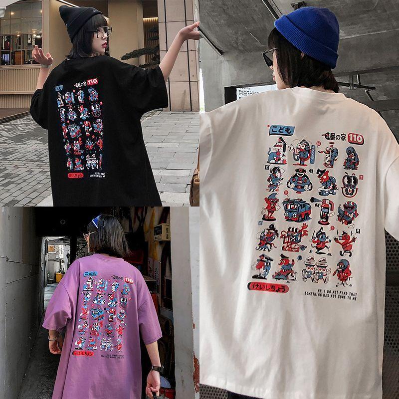 ユニセックス 半袖 Tシャツ メンズ レディース こども110 キャラクター プリント オーバーサイズ 大きいサイズ ルーズ ストリート