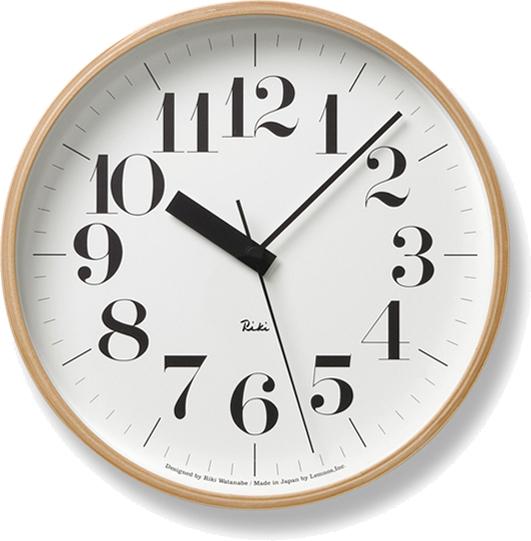 タカタレムノス RIKI CLOCK RC 電波時計 ナチュラル WR07-11