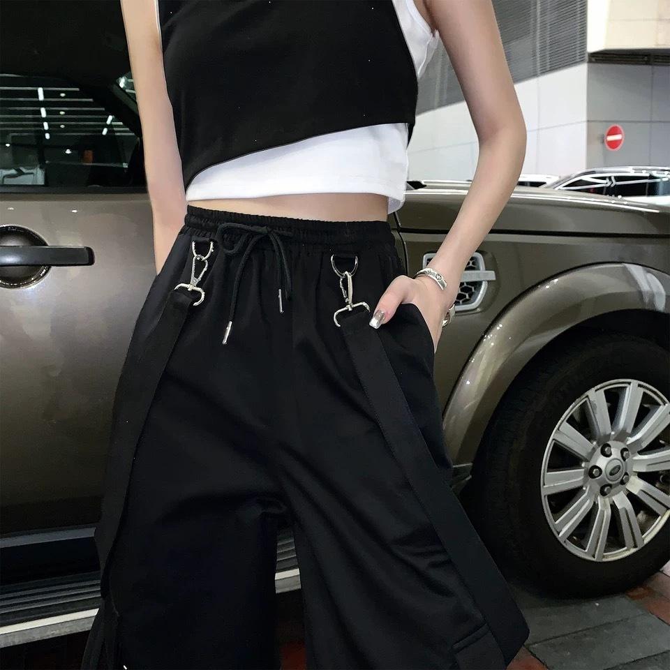 suspender loose pants