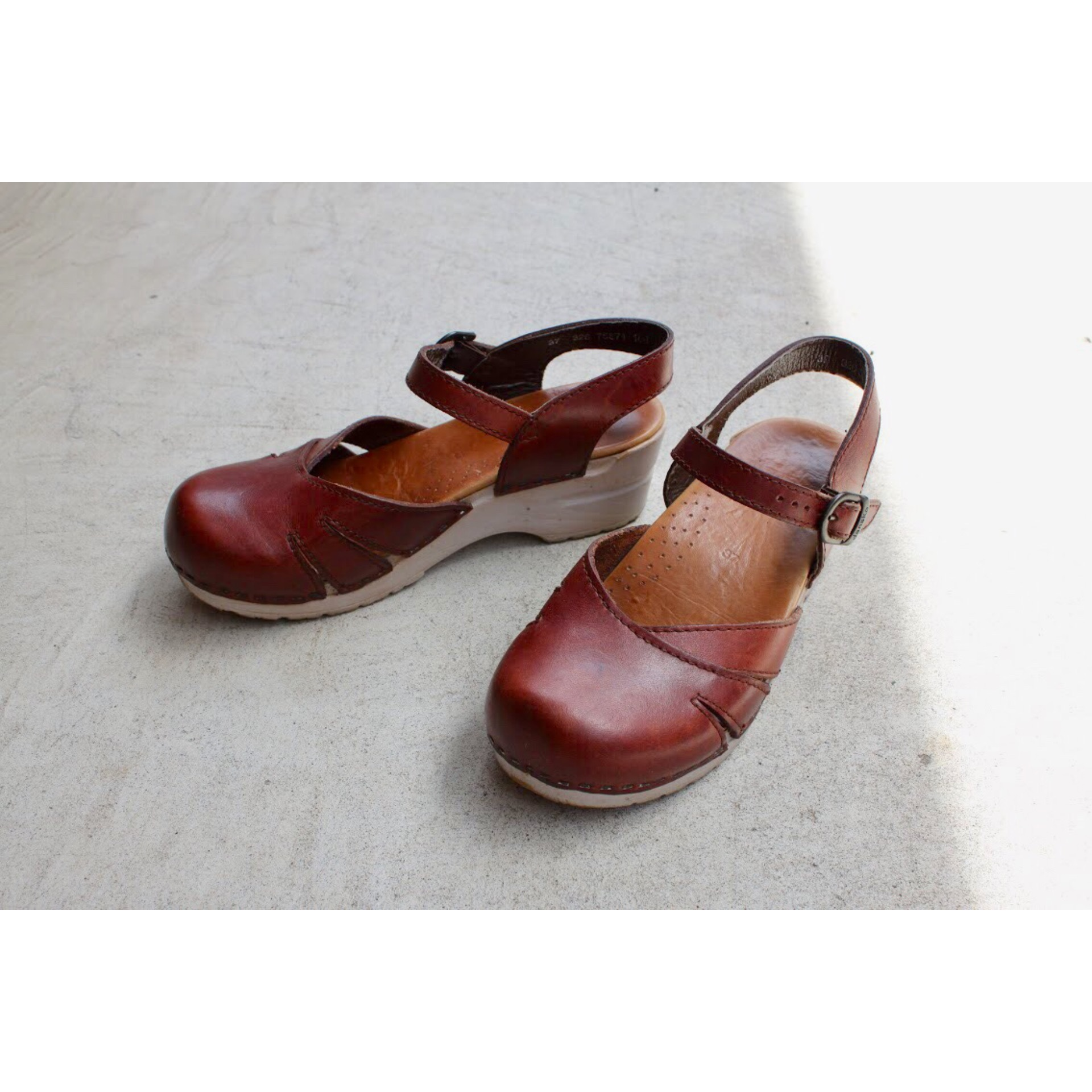 Vintage strap leather shoes by DANSKO