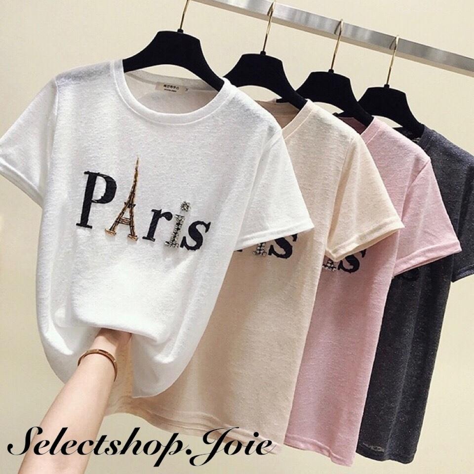 ビーズParisロゴTシャツ 4色展開