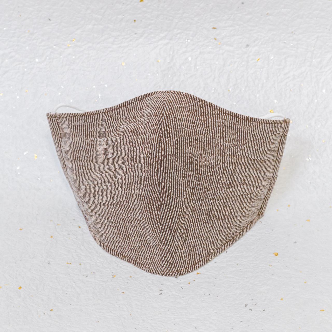モダン和紙織りマスク クラシック ブラウン(茶)