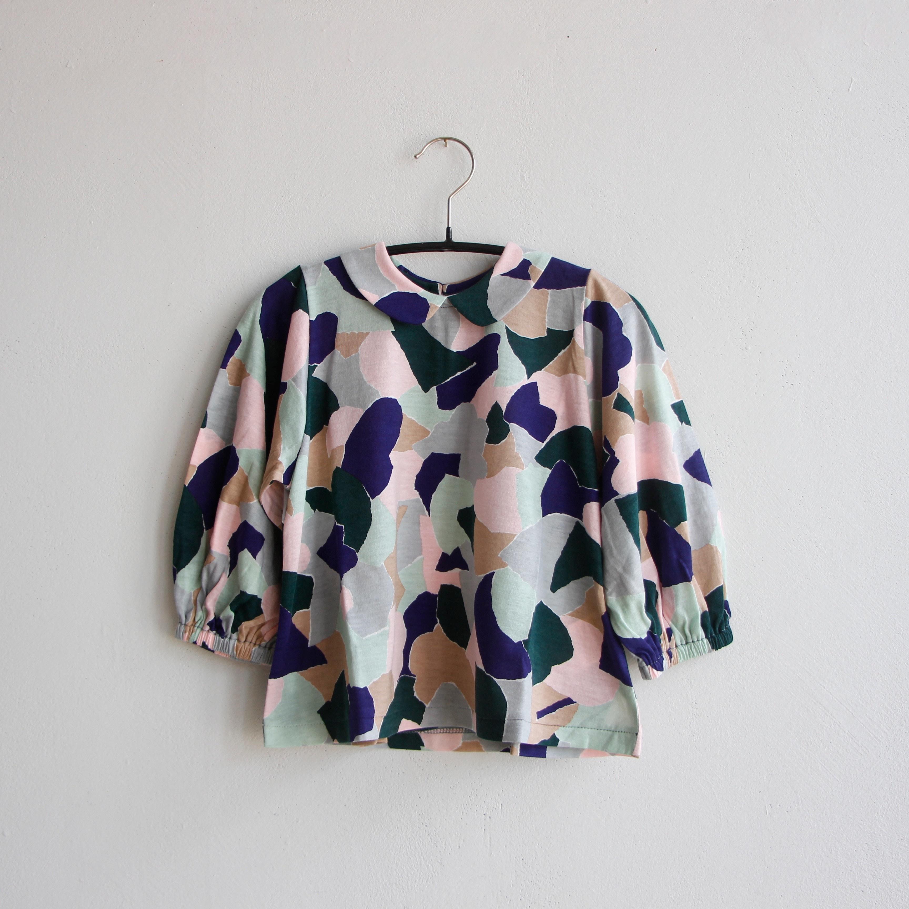 《mina perhonen 2020AW》foliage 長袖カットソー / pink mix / 80-100cm