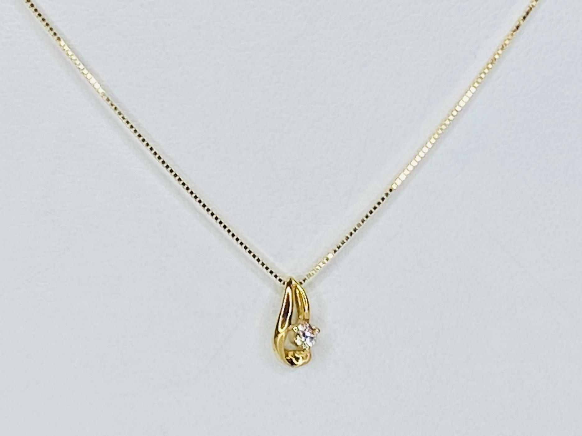 K18  0.05ct ダイヤモンドネックレス ○