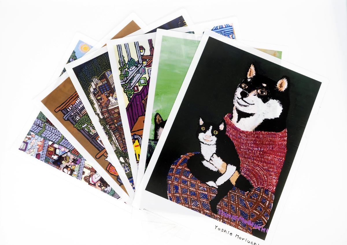 【クリアファイル6枚セット】柴犬アートなクリアファイル!セットで200円お得