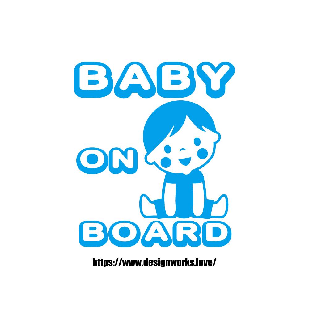 全10色 BABY ON BOARD BOY ステッカー