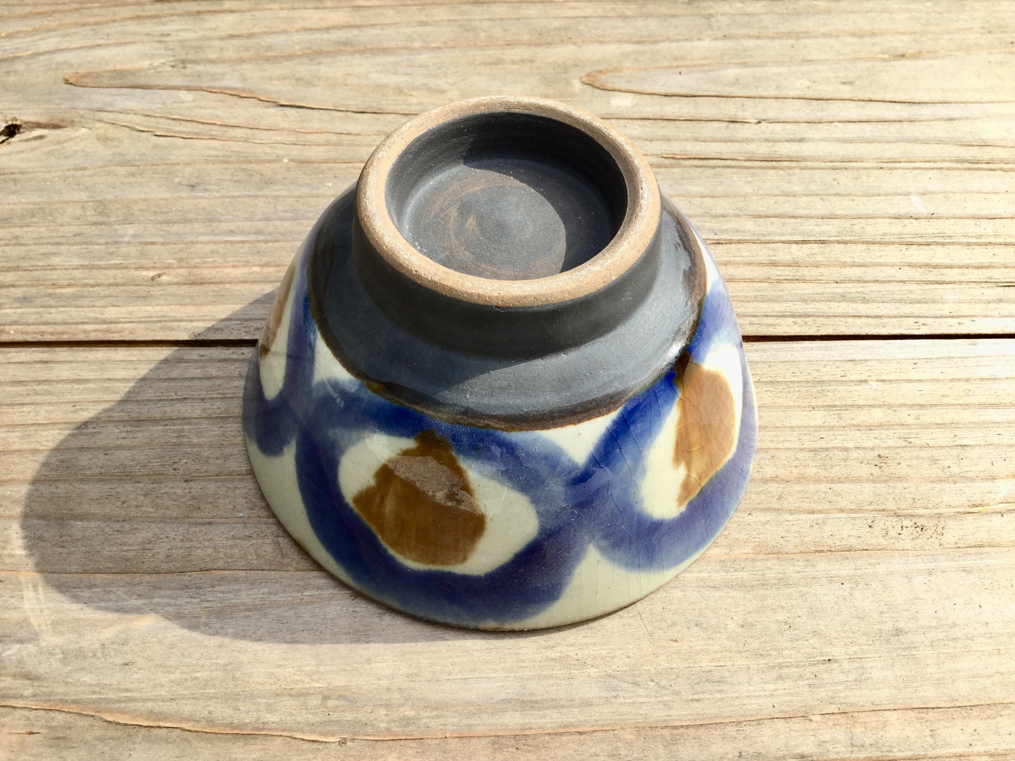 マカイ4寸コバルト ノモ陶器製作所