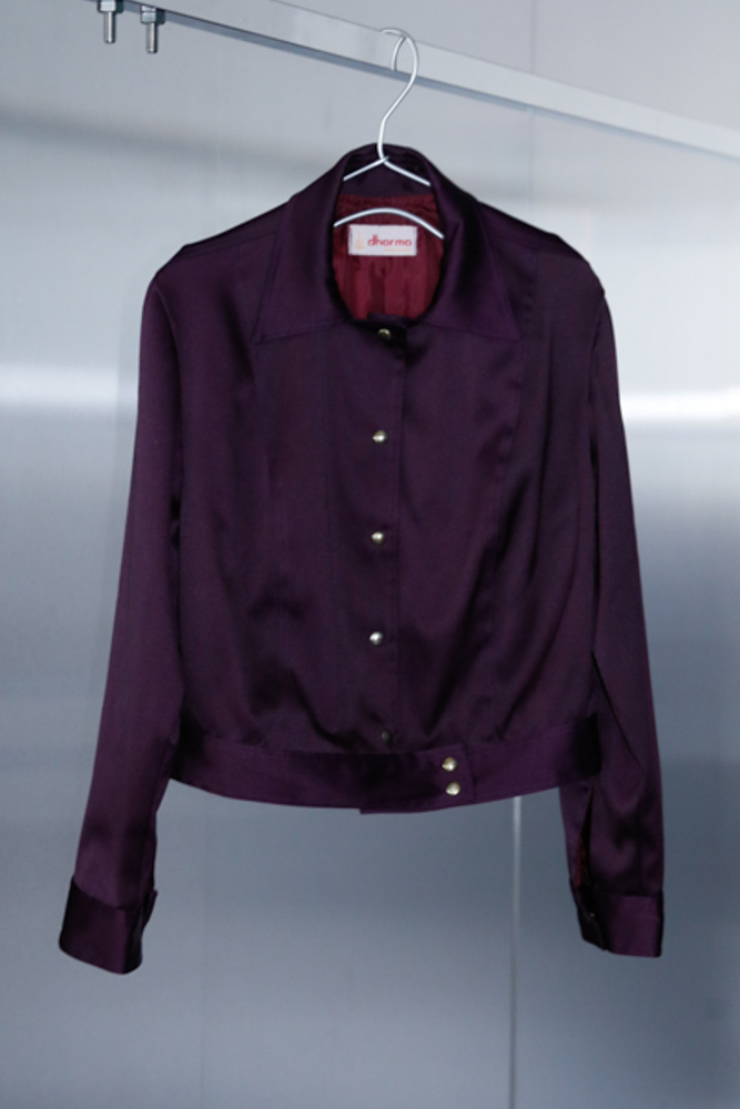 90's Purple Short Blouson