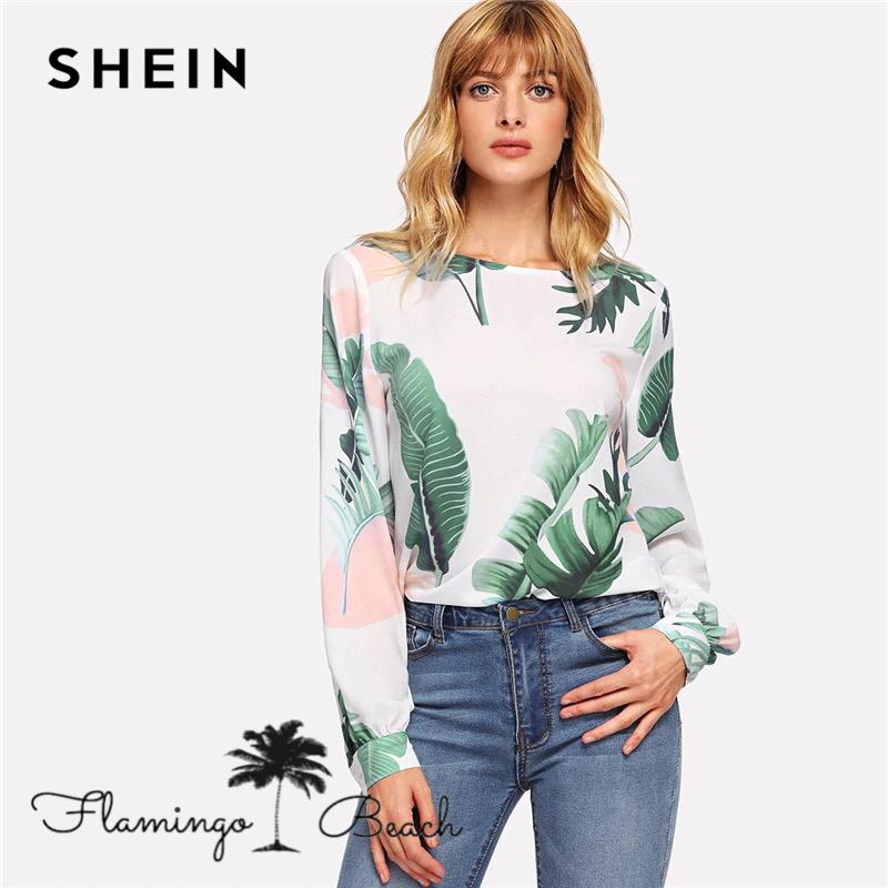 【FlamingoBeach】leaf shirt