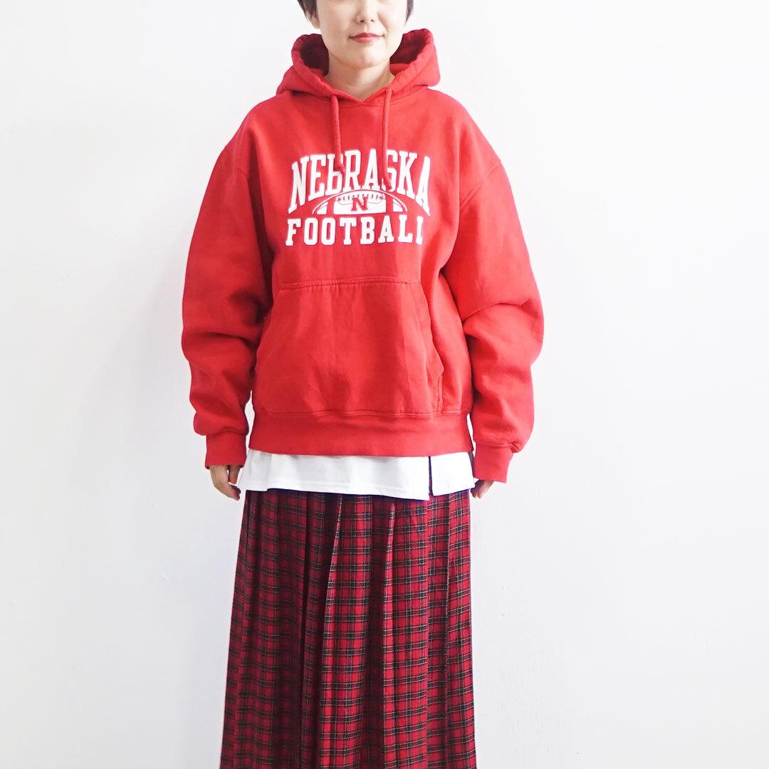 USED 古着 パーカ REDロゴ 裏起毛 (品番used-033)