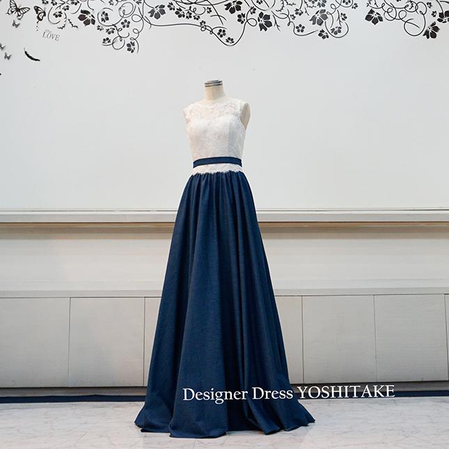 【オーダー制作】ウエディングドレス デニムスレンダードレス 前撮り/二次会 ※制作期間3週間から6週間