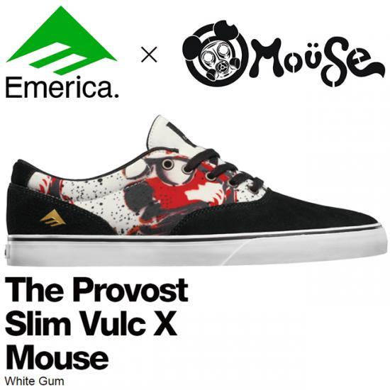 【EMERICA】The Provost Slim Vulc X Mouse(Black/Print)
