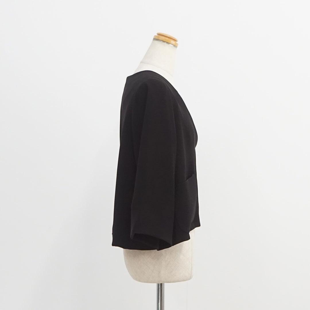 WHYTO. ホワイト ダブルクロスサテンショートジャケット (品番wht19hjk2)