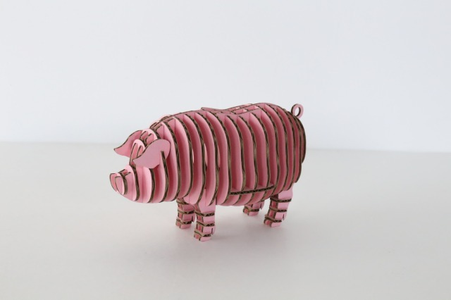 FLATS立体型パズル 豚/pig109