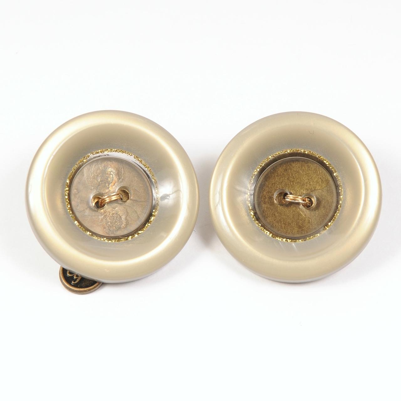df20SS-J07 VINTAGE BOTTON EARRING - glitter