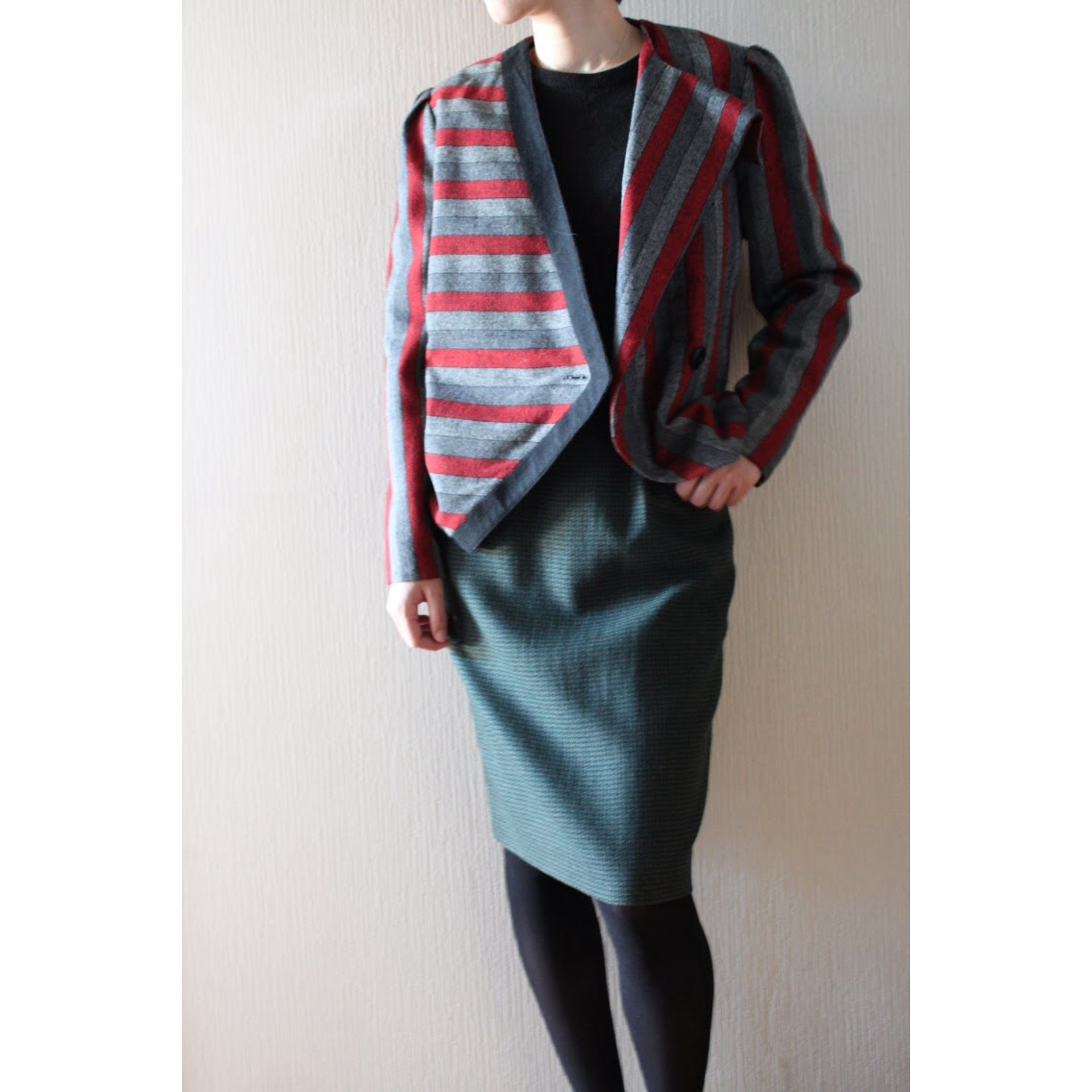 Vintage asymmetry jacket