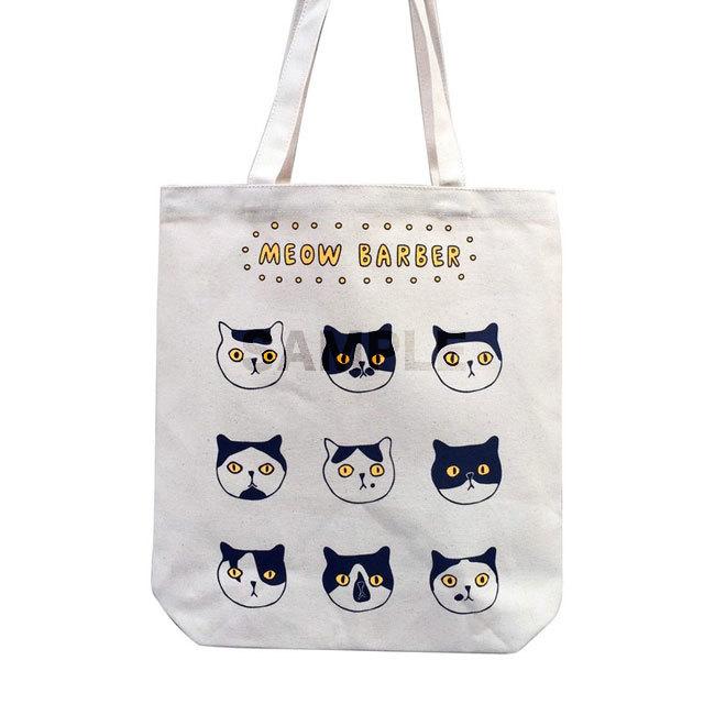 猫 トートバック(Meow Barber)