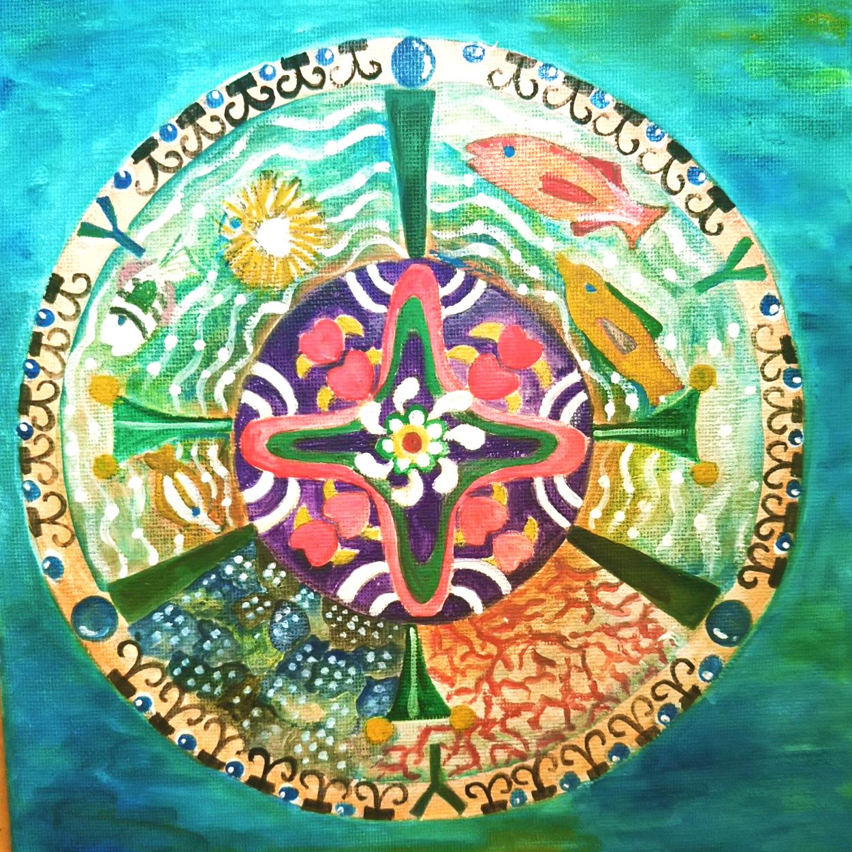 絵画 絵 ピクチャー 縁起画 モダン シェアハウス アートパネル アート art 14cm×14cm 一人暮らし 送料無料 インテリア 雑貨 壁掛け 置物 おしゃれ イラスト 現代アート  ロココロ 画家 : なったこ 作品 : n-3