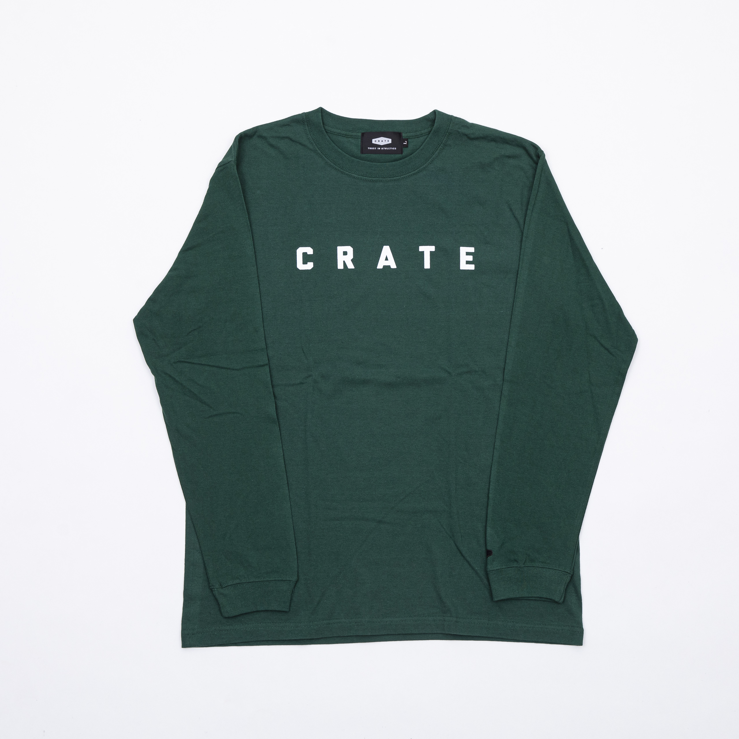 New Crate Simple Logo L/S Tee Green