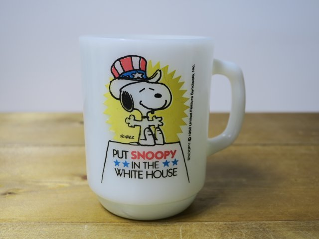 Fire King 9オンスマグ SNOOPY FOR PRESIDENT №3