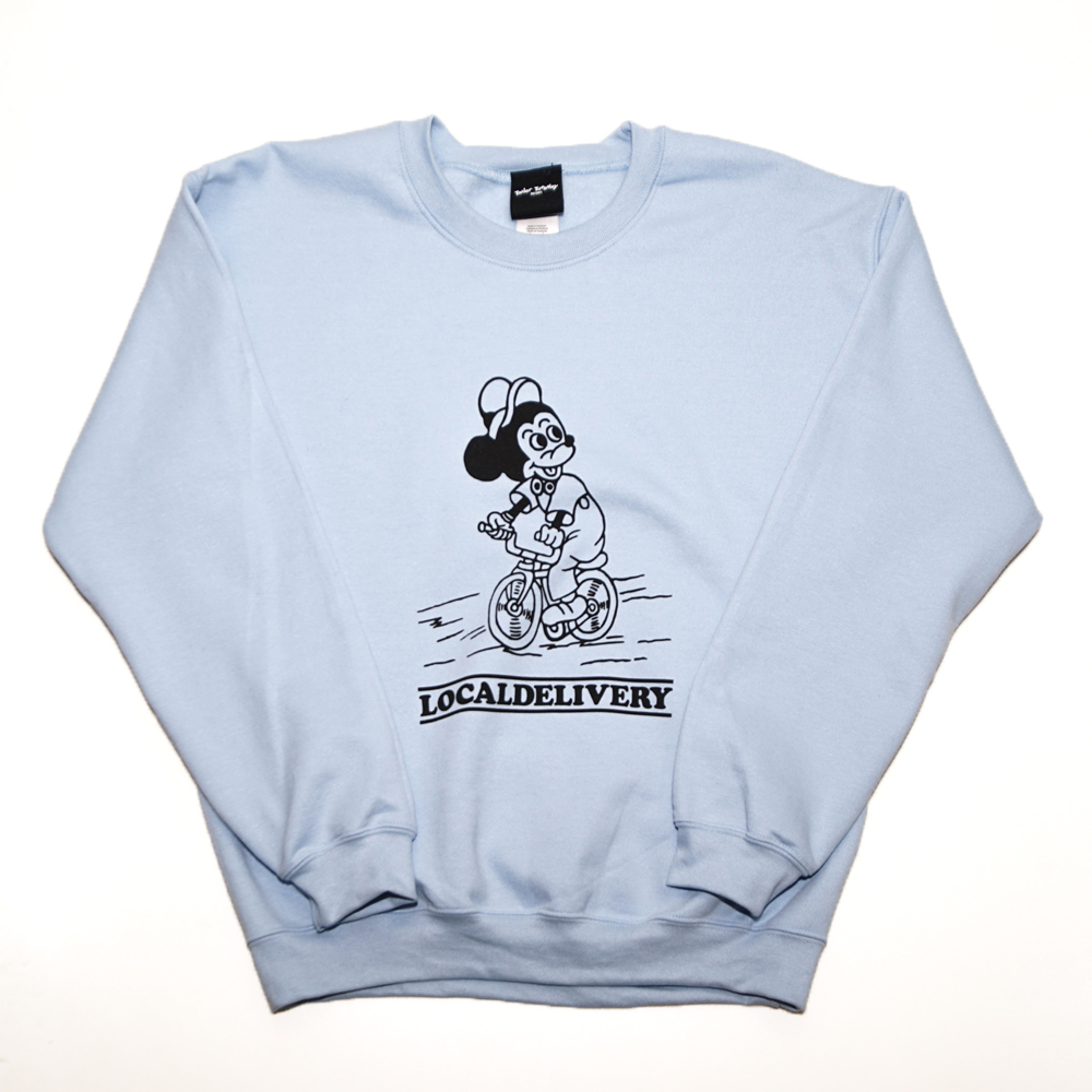 WWWTYO LOCALDELIVERY SWEAT (LIGHT BLUE)