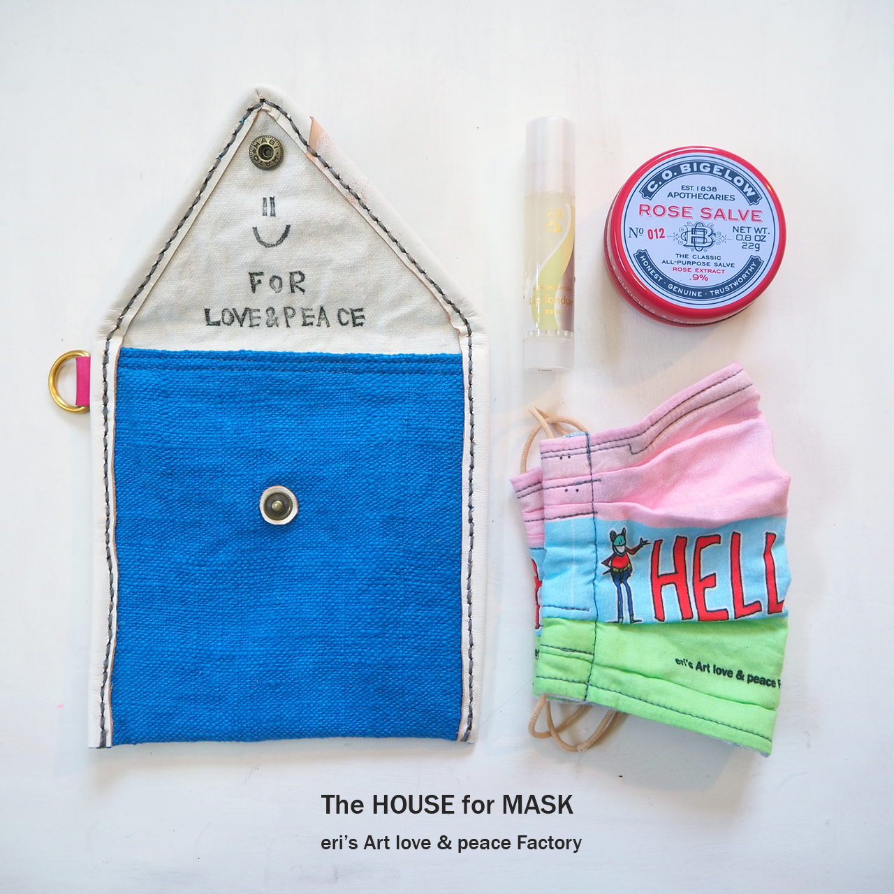 The HOUSE for MASK -マスクのおうちポーチ skyblue- LE-1328