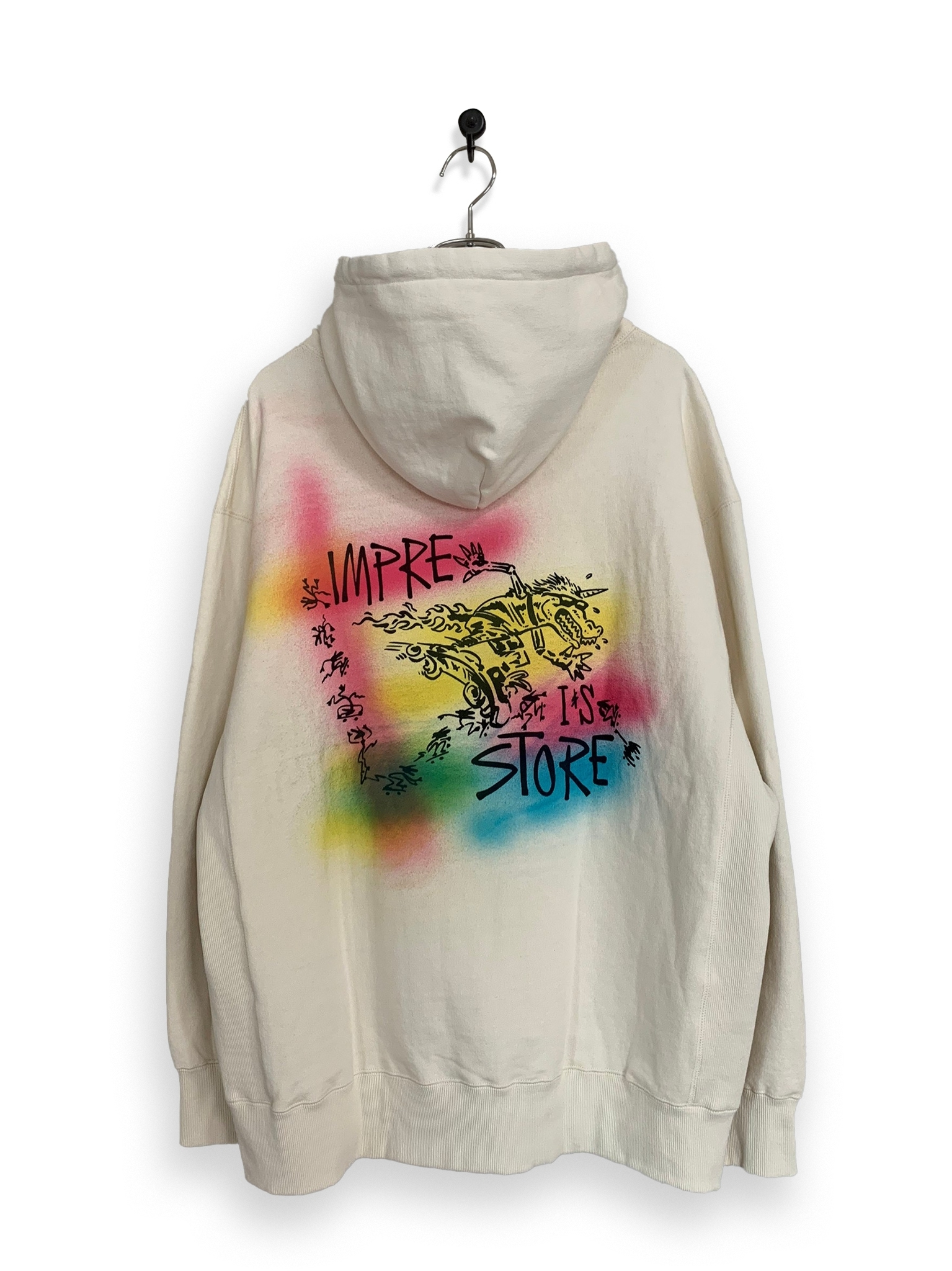 Original Hooded Sweatshirt / air brush / white