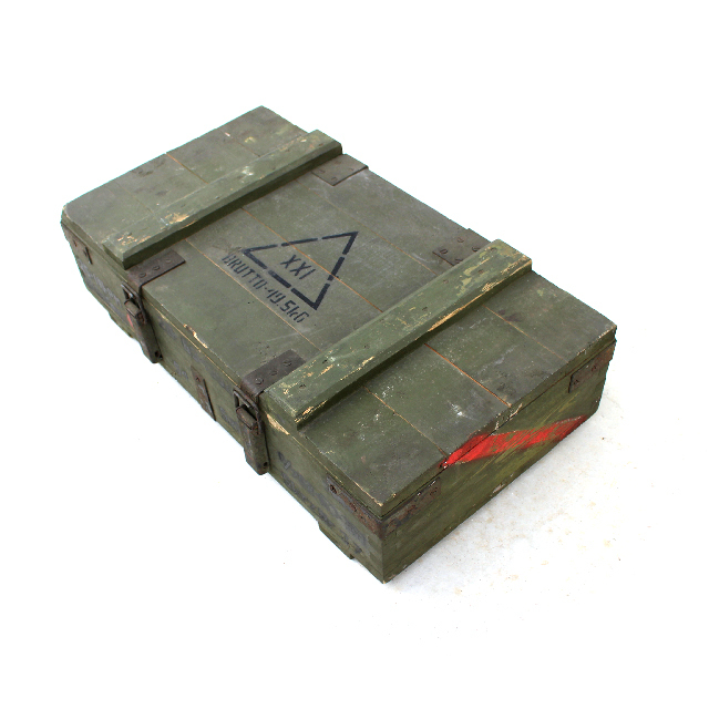 USED / Polish ARMY Wood Long Ammo BOX
