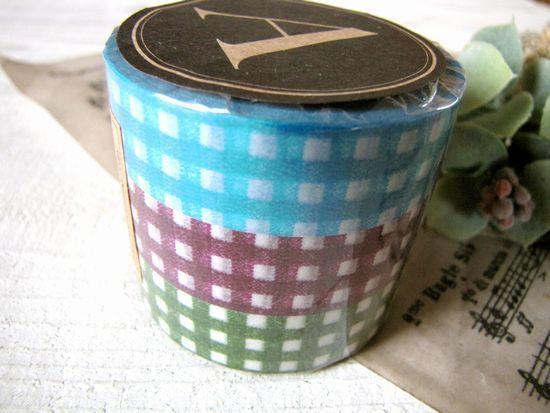 マスキングテープ*ギンガムチェック・ダークカラー/セレクト雑貨