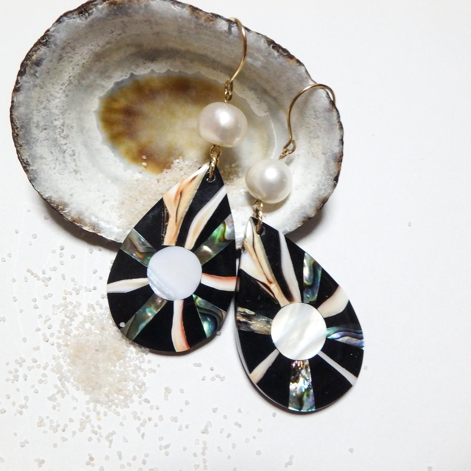 Abalone Shell Drop Pierce