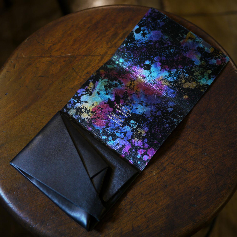 孔雀色の所作 black×aurora -ショートウォレット1.0-