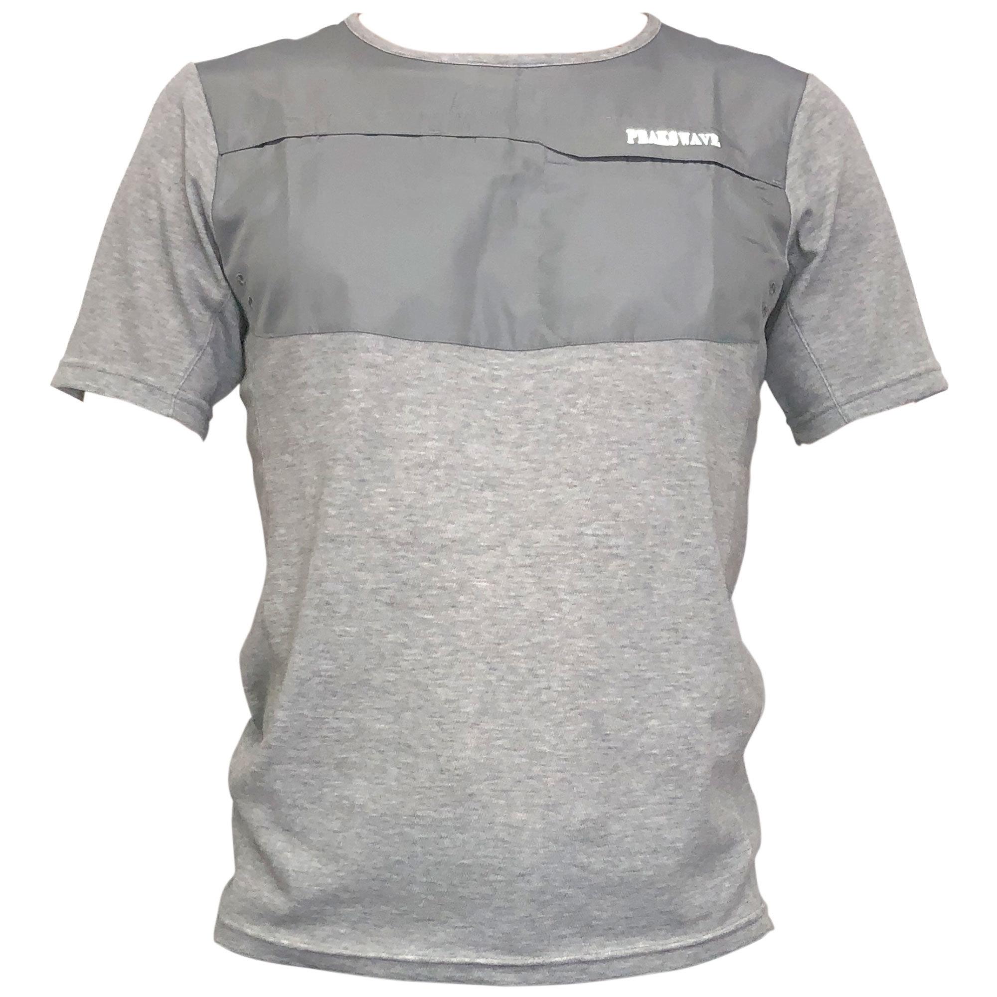 P818TSM20 吸水速乾 UV メンズハイブリッドTシャツ(グレー)