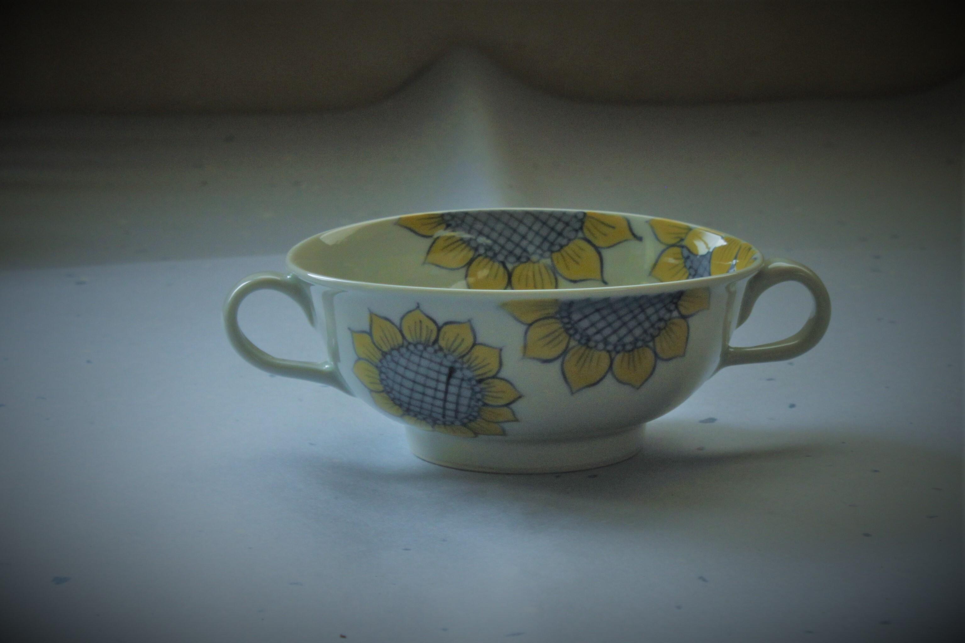 ひまわりスープカップ