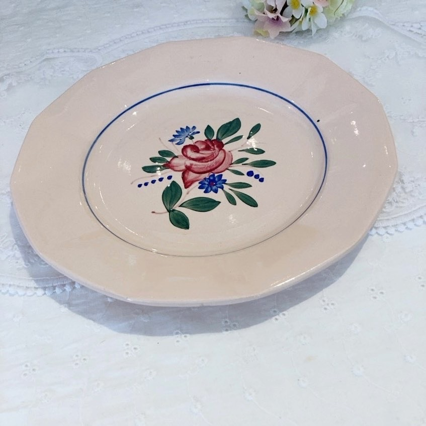 優しいピンクベージュカラーにほっこり♪ ディゴワン・サルグミンヌ  デザート皿