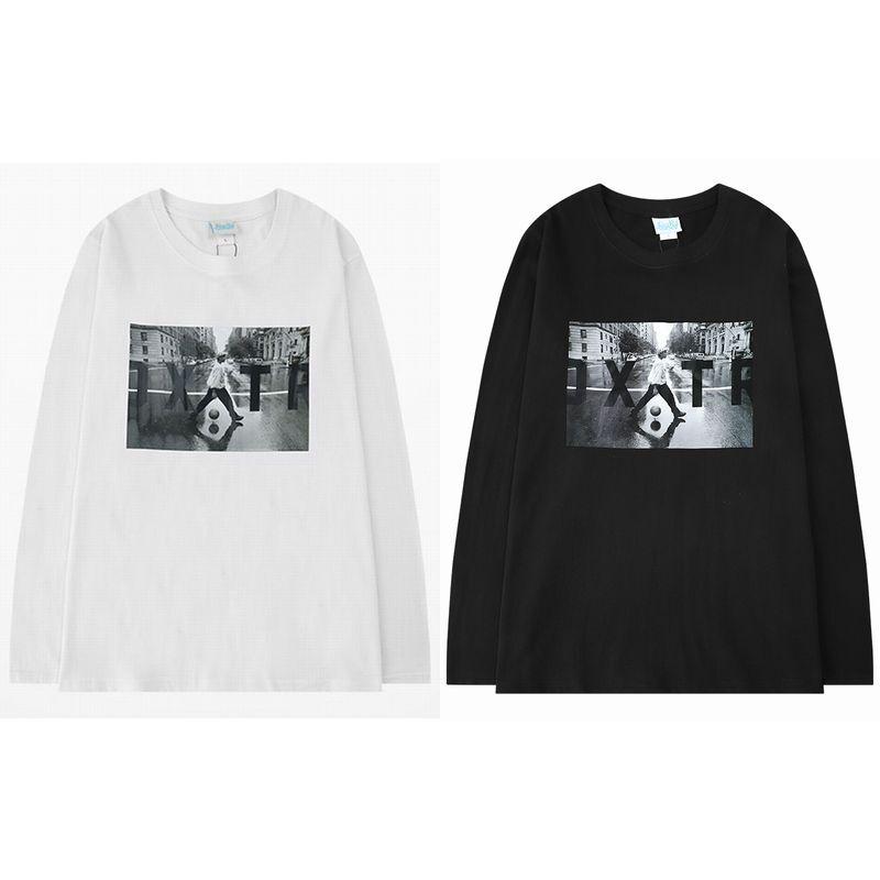 ユニセックス 長袖 Tシャツ メンズ レディース プリント オーバーサイズ 大きいサイズ ストリート