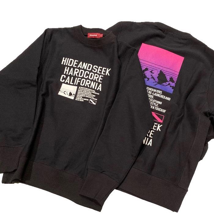 HIDEANDSEEK(ハイドアンドシーク) / HARD CORE CAL SWEAT SHIRT(19AW)(HC-100619)(スウェットシャツ)