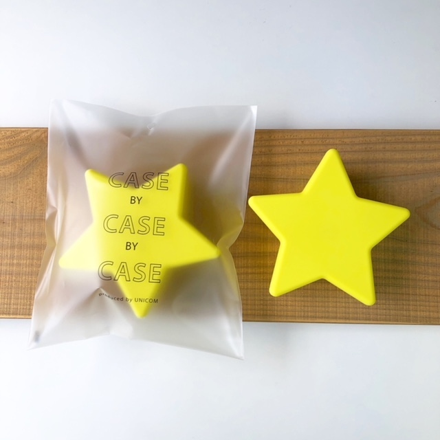 CASE BY CASE BY CASE  -star food case- yellow 星フードケース・タッパー