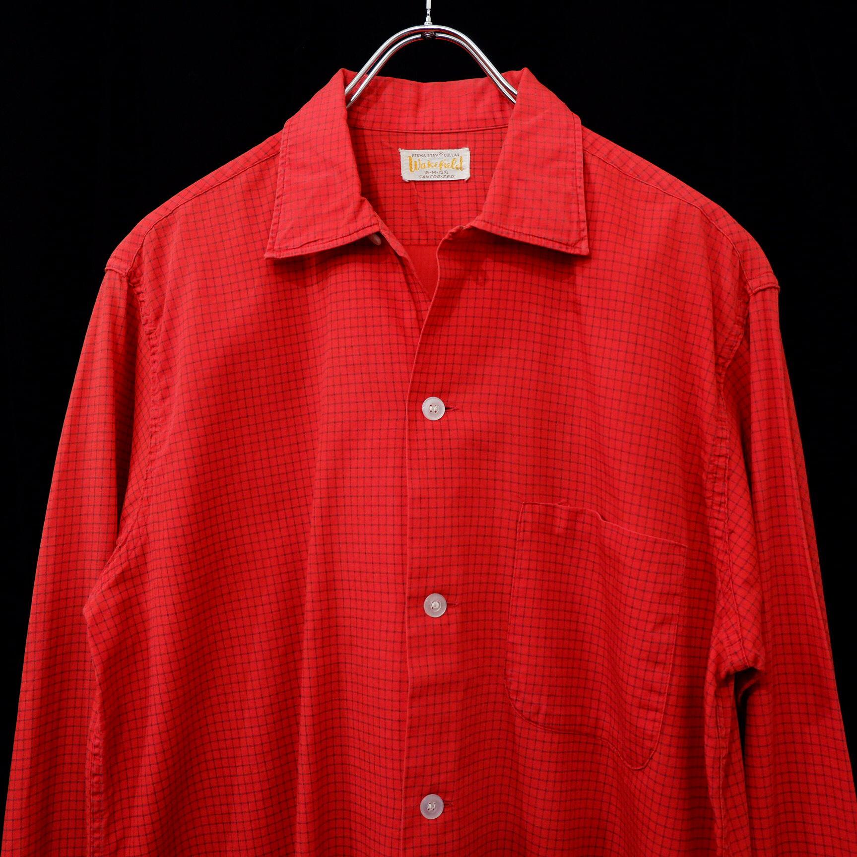 アメリカ古着 1960s vintage コットンシャツ