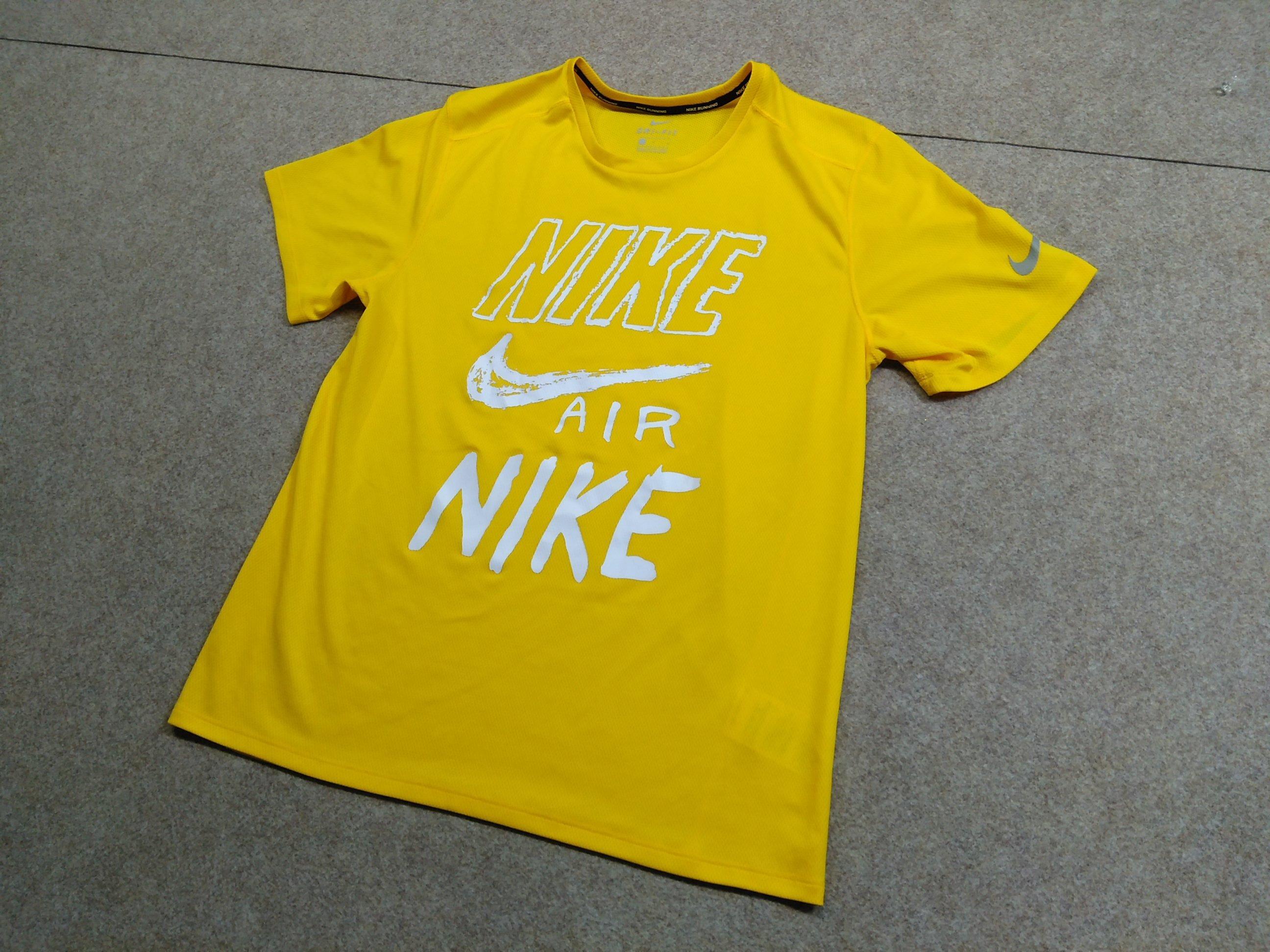 NIKE ナイキ Tシャツ L 黄色 DRI-FIT my457s