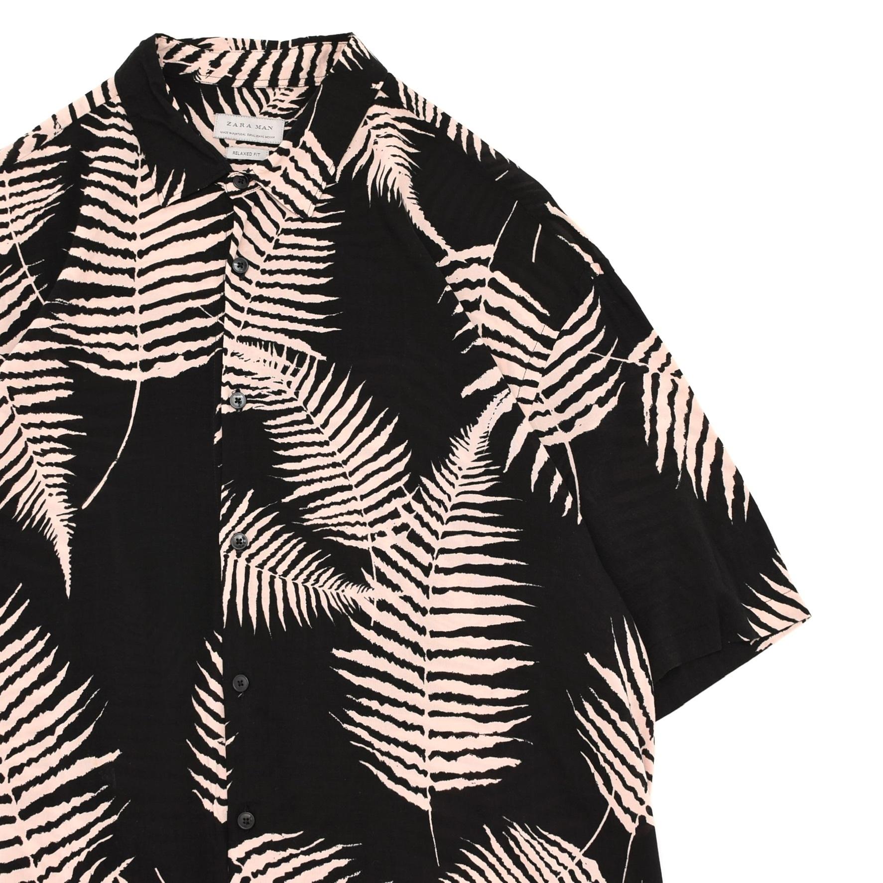 ZARA MAN leaf full pattern rayon shirt