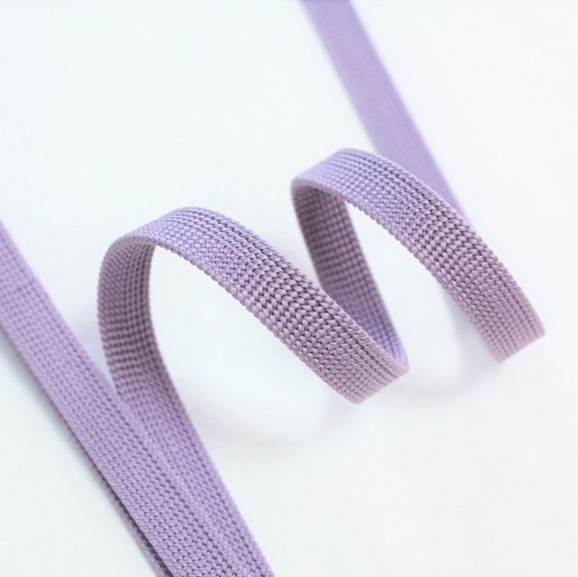 渡敬 正絹三分紐 遠州無地 薄紫色