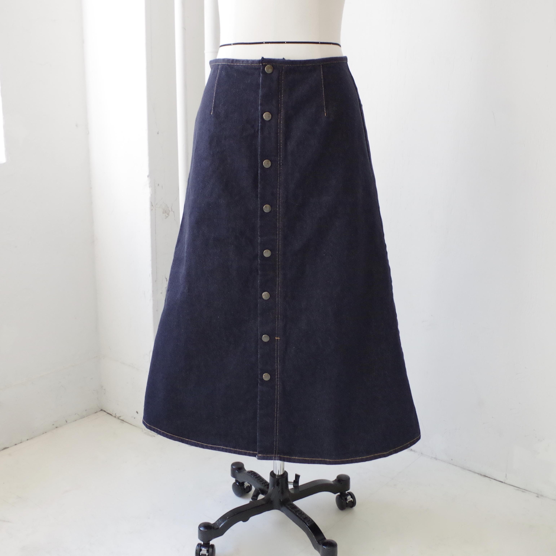デニム ロング スカート