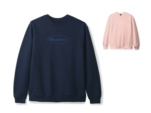 BUTTERGOODS|Badge Puff Logo Crewneck