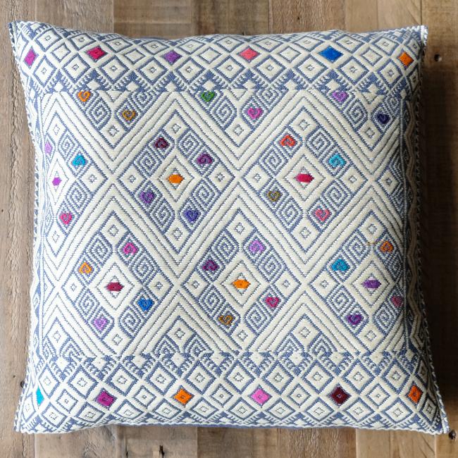 ララインサール村の手織りクッションカバー /215b/ MEXICO メキシコ