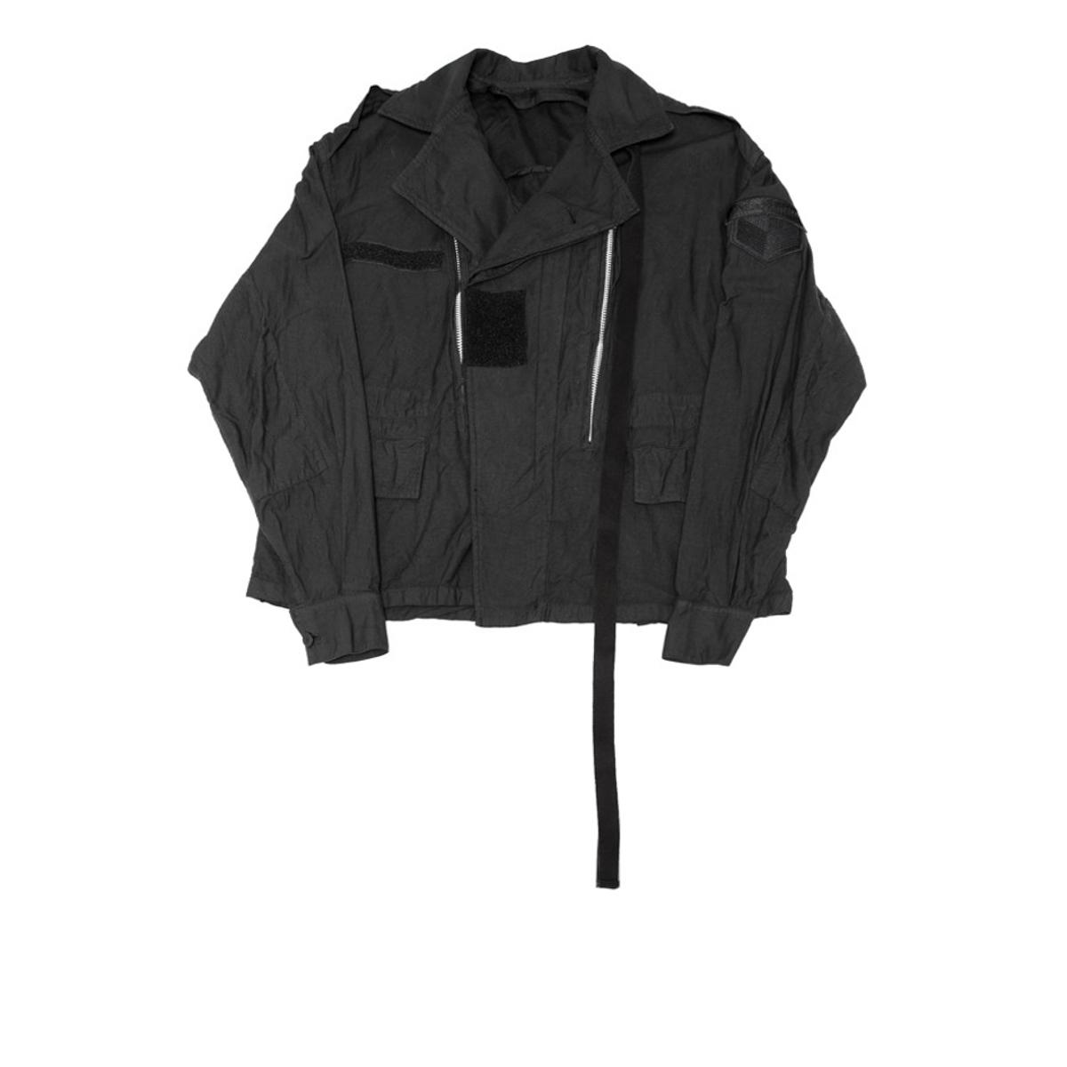 597BLM4-BLACK / レイヤードミリタリージャケット
