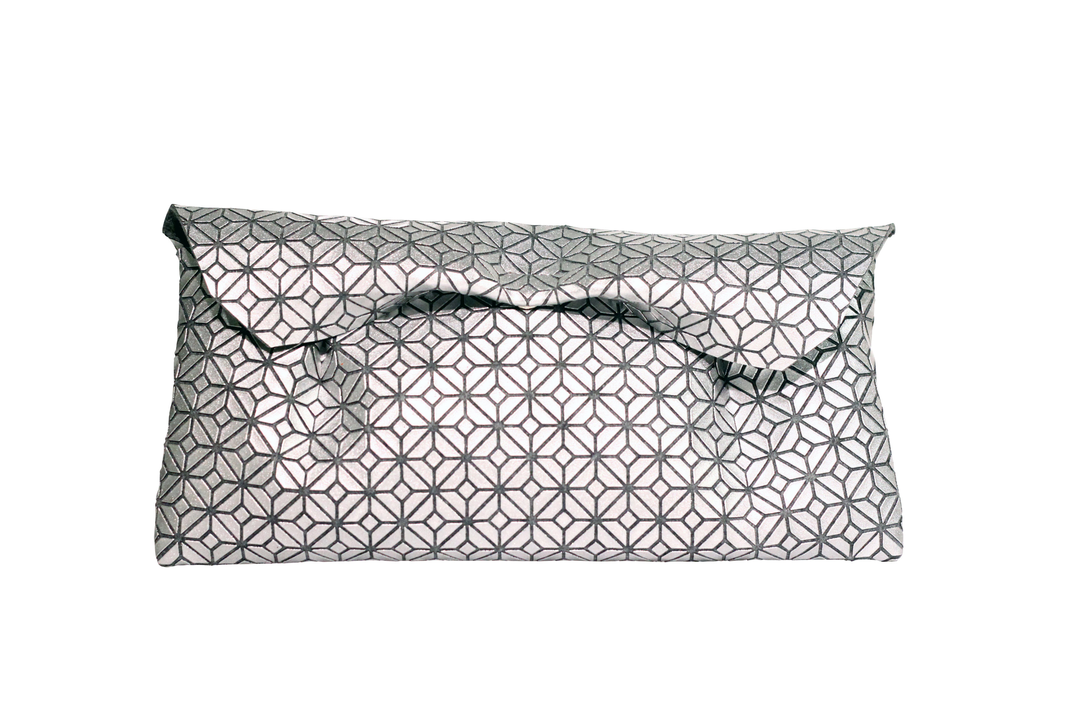 FUKUSA CLUTCH/SILVER GRAY