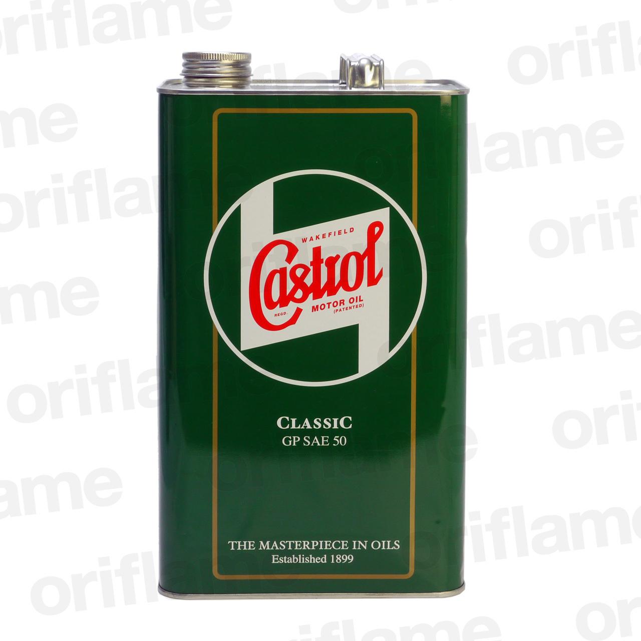 Castrol・カストロール・クラシック・オイル GP SAE50  5L 鉱物油