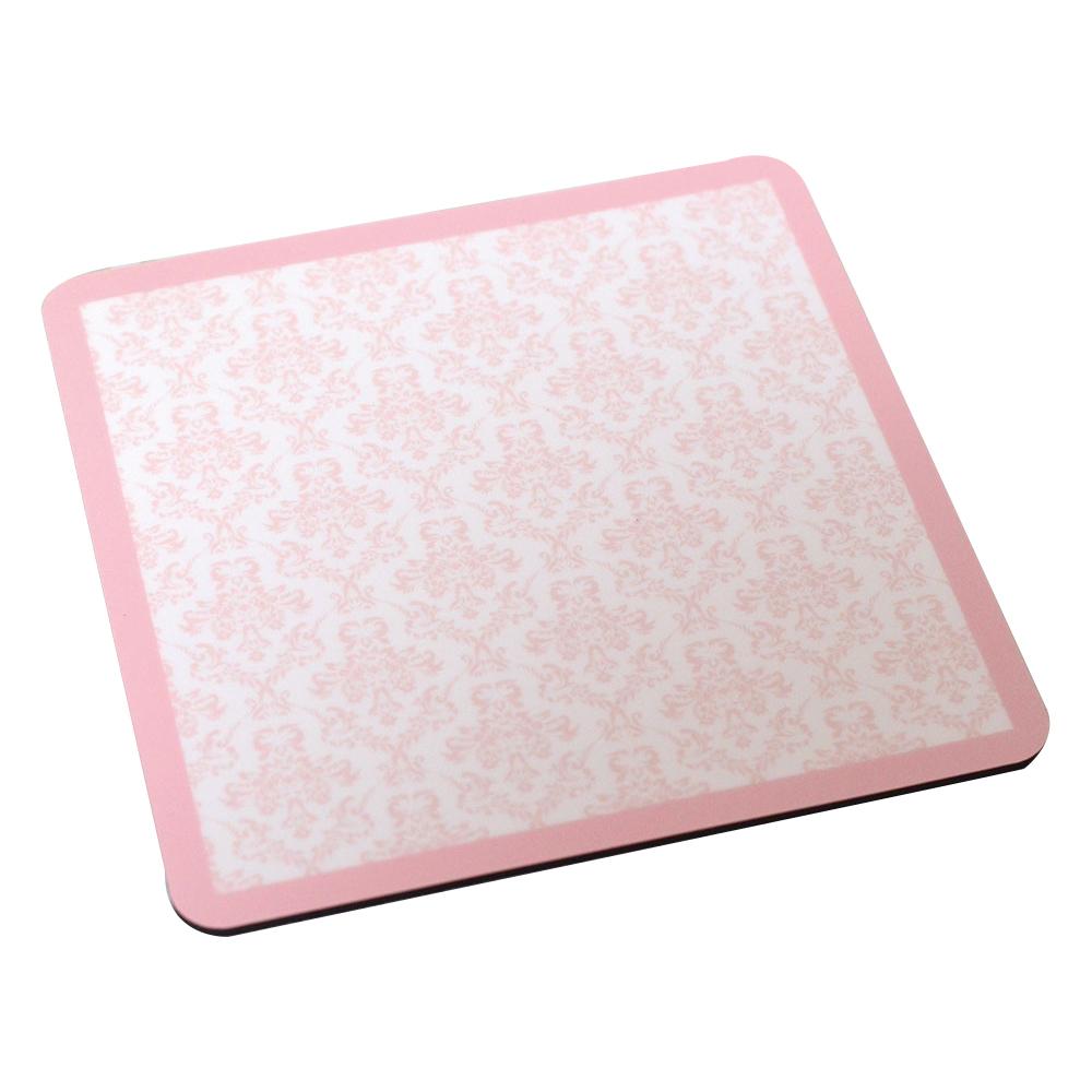 ダマスク柄のマウスパッド【ピンク】MP008
