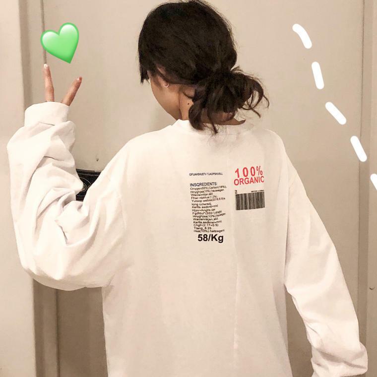 【送料無料】アメコミ風 ♡ カジュアル オーバーサイズ プリント  Tシャツ ロンT カットソー