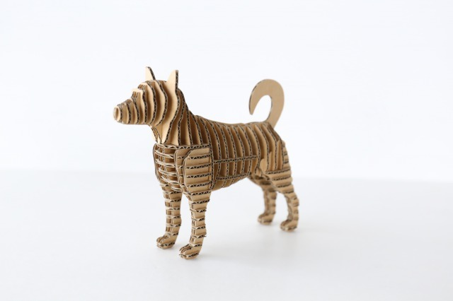 FLATS立体型パズル 芝犬/shiba130 ナチュラル